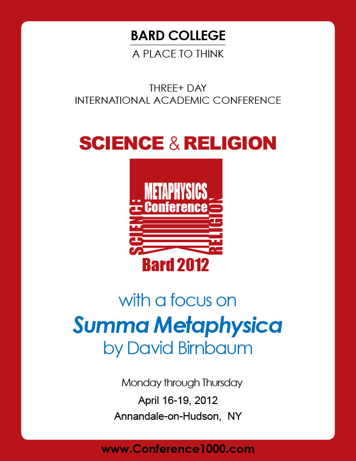 Conference and Journal featuring David Birnbaum Summa Metaphysica Philosophy Theory