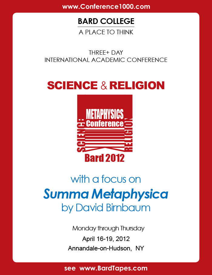 See also David Birnbaum Quest for Potential (Q4P), Theory of Everything metaphysics Unifying Science & Religion.