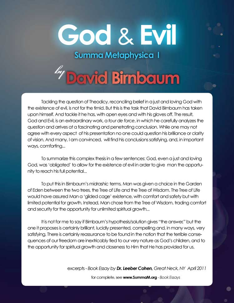 5-DavidBirnbaumDrLeeberCohenGodandEvilBookEssays