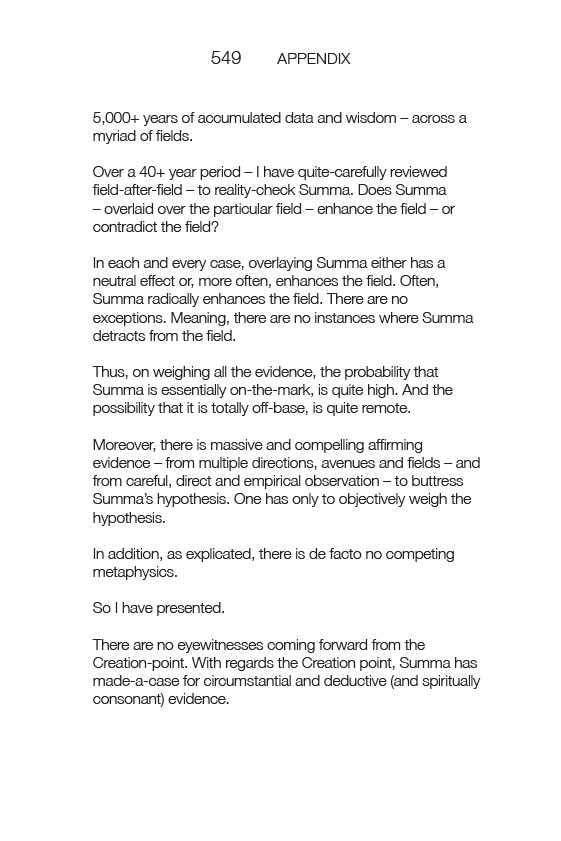 See Summa Metaphysica and David Birnbaum philosophy on creation. See  maverick philosopher David Birnbaum on Science and Religion.